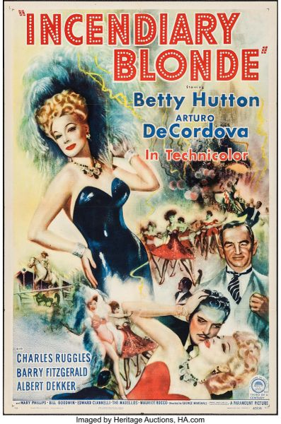 Incendiary Blonde (1943) Betty Hutton, Arturo de Cordova