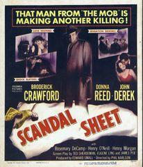 Scandal Sheet (1952) Broderick Crawford, Donna Reed, John Derek, Henry Morgan