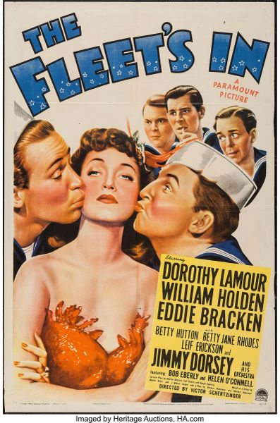 Fleet's In (1942) William Holden, Dorothy Lamour, Betty Hutton