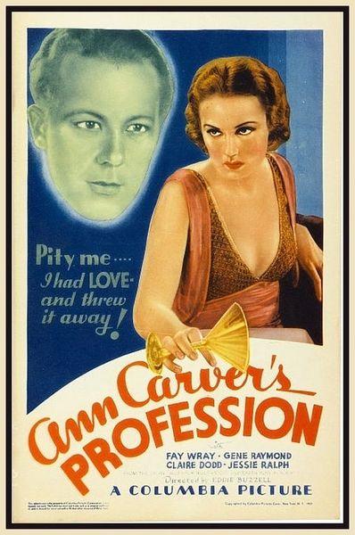 Ann Carver's Profession Gene Raymond, Fay Wray (1933) DVD