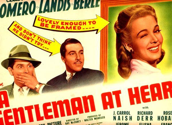A Gentleman at Heart Cesar Romero, Carole Landis, and Milton Berle (1942) DVD