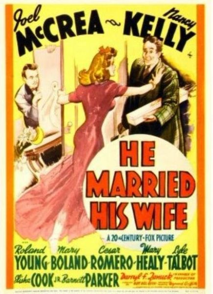 He Married His Wife (1940) DVD