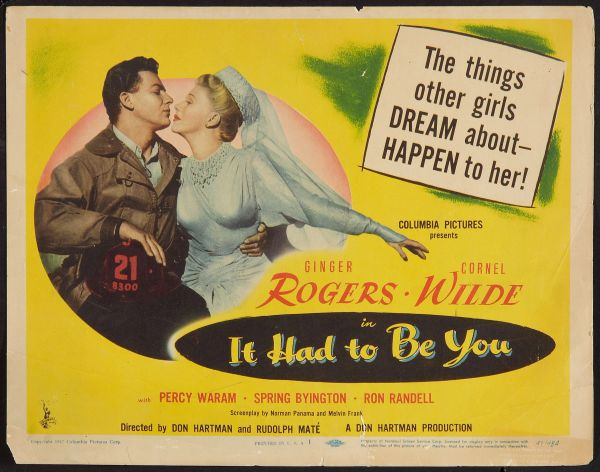 It Had To Be You (1947) DVD