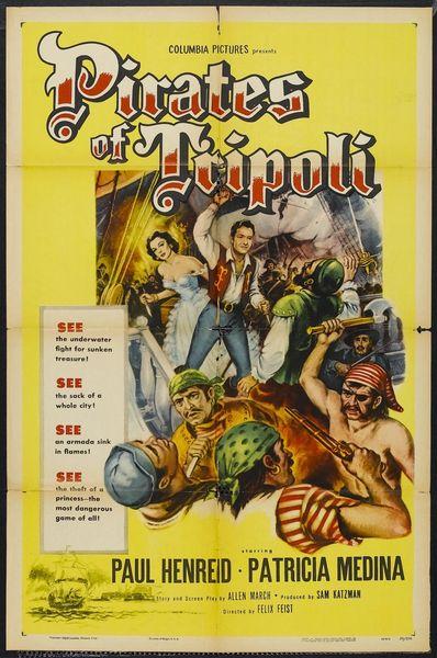 Pirates of Tripoli (1955) DVD
