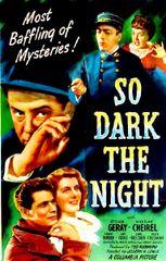 So Dark the Night (1946) DVD