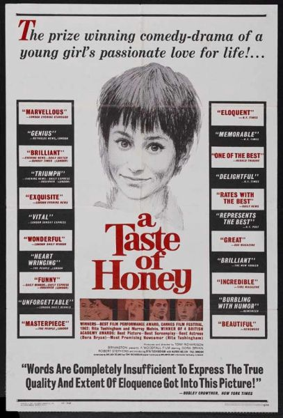 A Taste of Honey Rita Tushingham, Dora Bryan, Robert Stephens (1961) DVD
