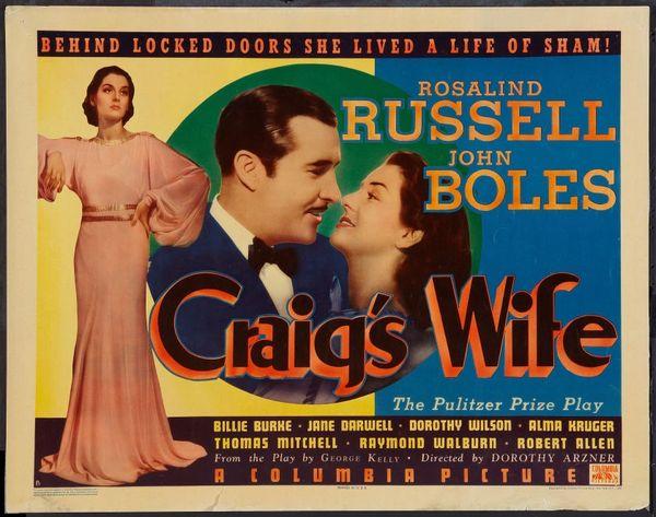 Craig's Wife (1936) DVD