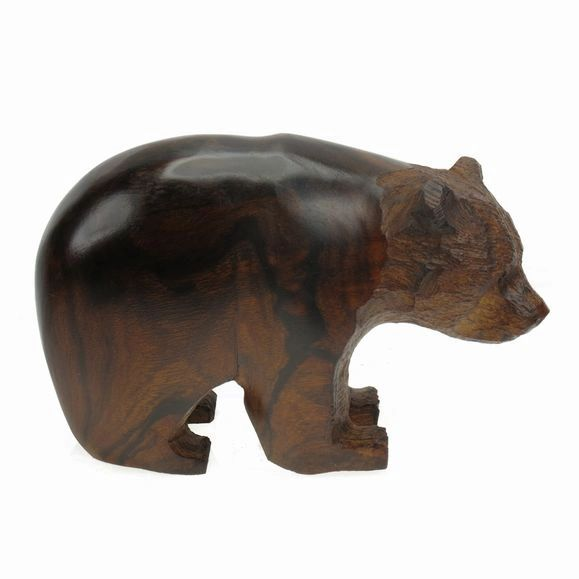 "Carving - Ironwood SubAdult Bear - 4"""