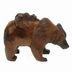 Carving - Ironwood Bear/ Cub - 5""