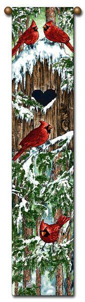 "Tapestry - ""Birds - Cardinal"" - 8.5""x40"""