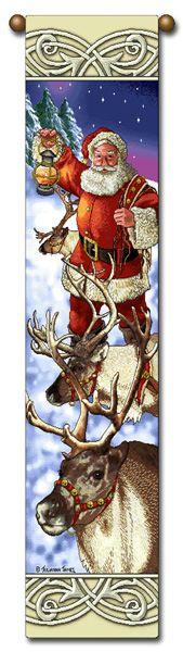 """Tapestry - """"Christmas, Reindeer"""" - 8.5""""x40"""""""