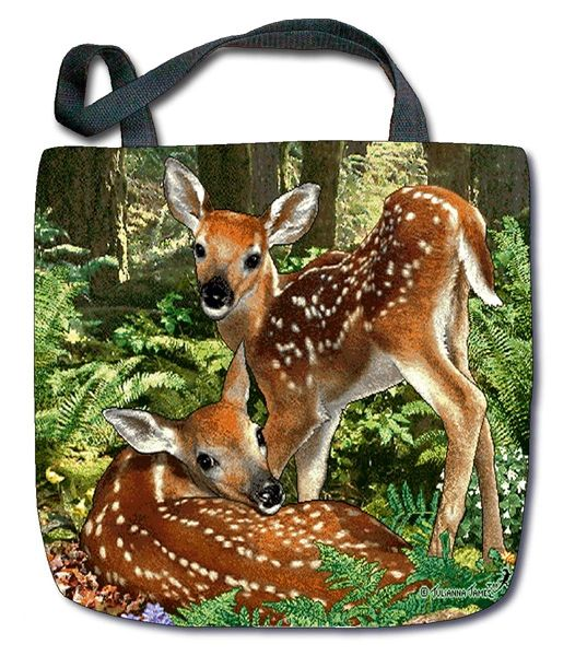 "Tapestry - ""Deer - The Twins"" - Tote Bag, 17""x17"""