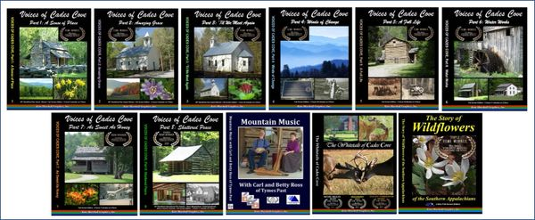 A DVD SET - 11 Cades Cove Documentaries