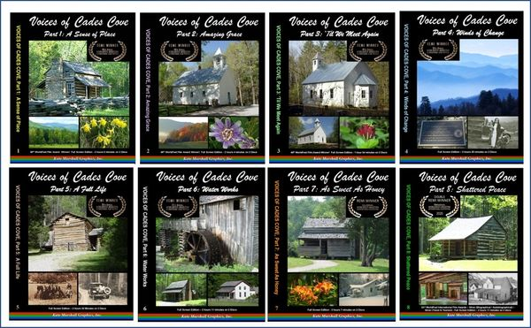 A DVD SET - 8 Voices of Cades Cove Documentaries