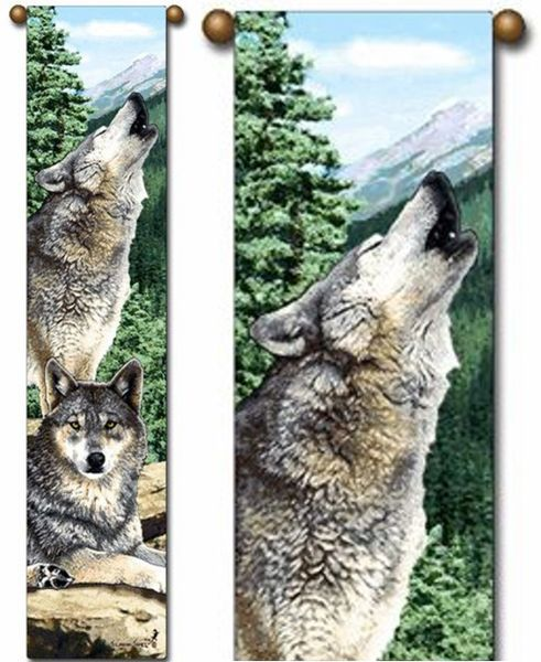 """Tapestry - """"Wolf - Grey Song"""" - 8.5""""x40"""""""