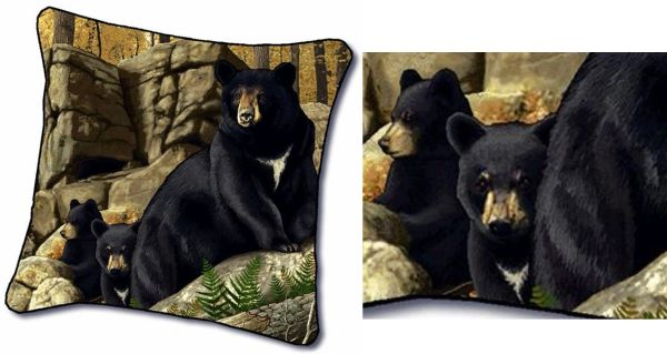 "Tapestry - ""Bears - Den Mother"" - Pillow, 18""x18"""