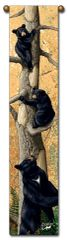 """Tapestry - """"Bears - Den Mother"""" - Hanging Bell Pull, 8.5x40"""