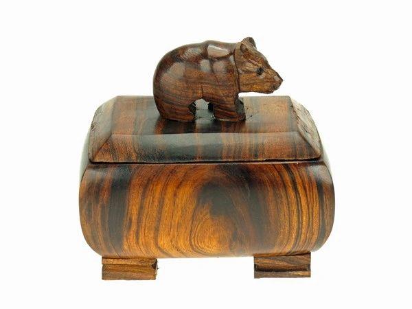 "Carving - Ironwood Bear Box - 3"""