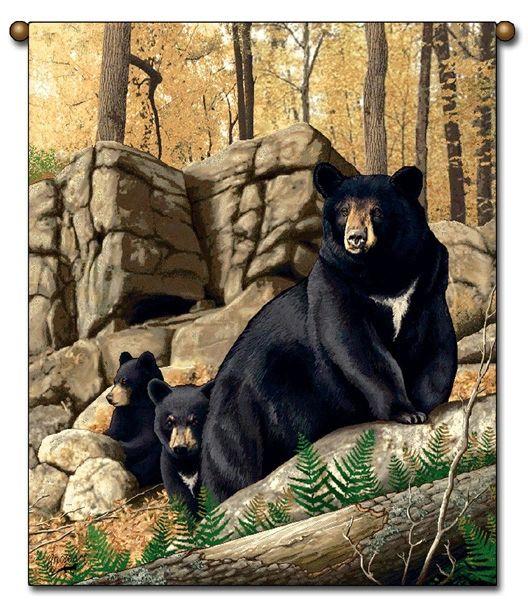 """Tapestry - """"Bears - Den Mother"""" - 27""""x36"""""""