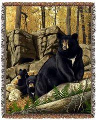 "Tapestry - ""Bears - Den Mother"" - Afghan, 53x67"