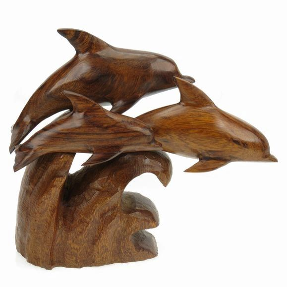 Carving - Dolphins - 8""