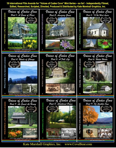 A DVD SET - 9 Voices of Cades Cove Documentaries
