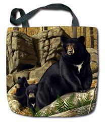 "Tapestry - ""Bears - Den Mother"" - Tote Bag, 17""x17"""
