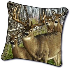 "Tapestry - ""Deer - Harem"" - Pillow, 18x18"