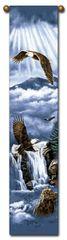 """Tapestry - """"Birds - Eagle Flight"""" - 8.5""""x40"""""""