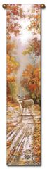 "Tapestry - ""Deer - Autumn Song"" - Hanging Bell Pull, 8.5x40"