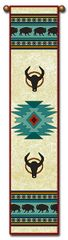 "Tapestry - ""Bison - Native American"" - Bell Pull, 8.5x40"