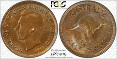 1946 Half Penny PCGS Graded MS63