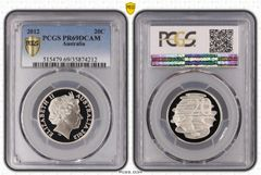 2012 Proof Twent Cent PCGS Graded PR69DCAM