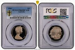 1966 Proof Twenty Cent PCGS PR69DCAM