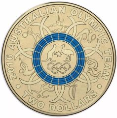 2016 Blue Olympic Two Dollar