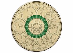 2016 Green Olympic Two Dollar