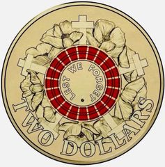 2015 Red Remembrance Two Dollars UNC
