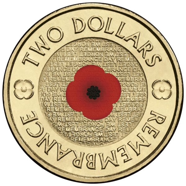 2012 Red Poppy Remembrance Two Dollar