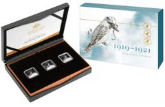 2019 3 Coin Square Kookaburra 25c Silver Proof Set from Royal Australian Mint
