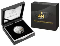 2018 $5 Fine Silver Selectively Gold Plated Proof Coin - Invictus Games