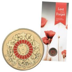 2015 Lest We Forget Poppy Counterstamp Two Dollar Coin