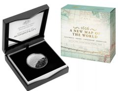 2019 $5 A New Map of the World 1626 Columbus Silver Domed Proof