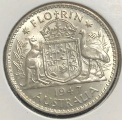 1947 Florin Uncirculated Lustrous Coin