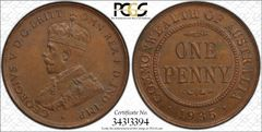 1935 Penny PCGS Graded MS62BN