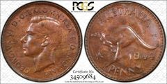 1944 Perth Penny PCGS Graded MS63BN