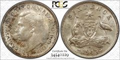 1943s Sixpence PCGS Graded MS63