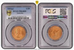 1962p Proof Half Penny PCGS Graded PR64RD