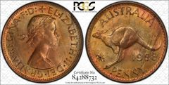 1958 Perth Penny PCGS Graded MS64RB
