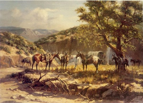 Chuckwagon Stop by Olaf Weighorst