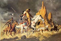 Navajo Ponies for Comanche Warrior sby Frank McCarthy